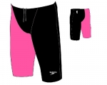 Hightech Jammer - LZR Racer Elite 2 (low waisted - schwarz-pink)