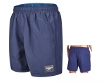 "Schwimmshort -Check Trim Leisure 16""- (navy)"
